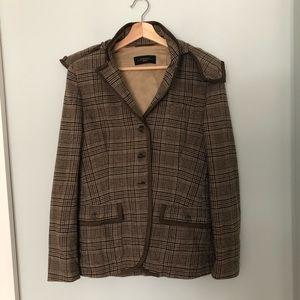 Maxmara Weekend Plaid Jacket with Detachable Hood